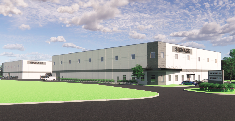 Rendering of New Jersey warehouse with industrial use.