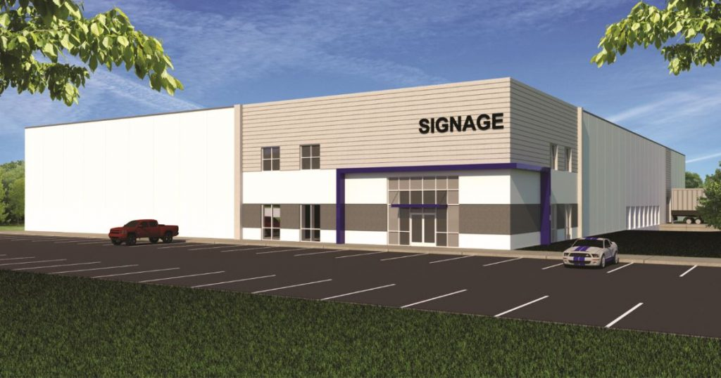 Rendering of industrial manufacturing warehouse in New Jersey.